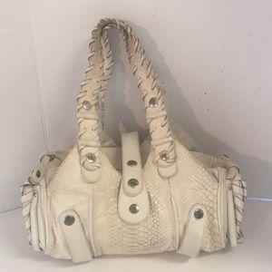 Authentic Chloe python Silverado cream satchel